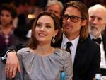 Still in love: Angelina Jolie and Brad Pitt at the Cinema for Peace Gala in February 2012. Picture: Pascal Le Segretain/Getty Images