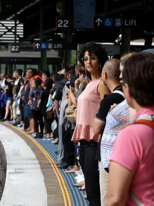 Ramza Martin, 26, from Belfield waiting for a train at Central. Picture: Jonathan Ng