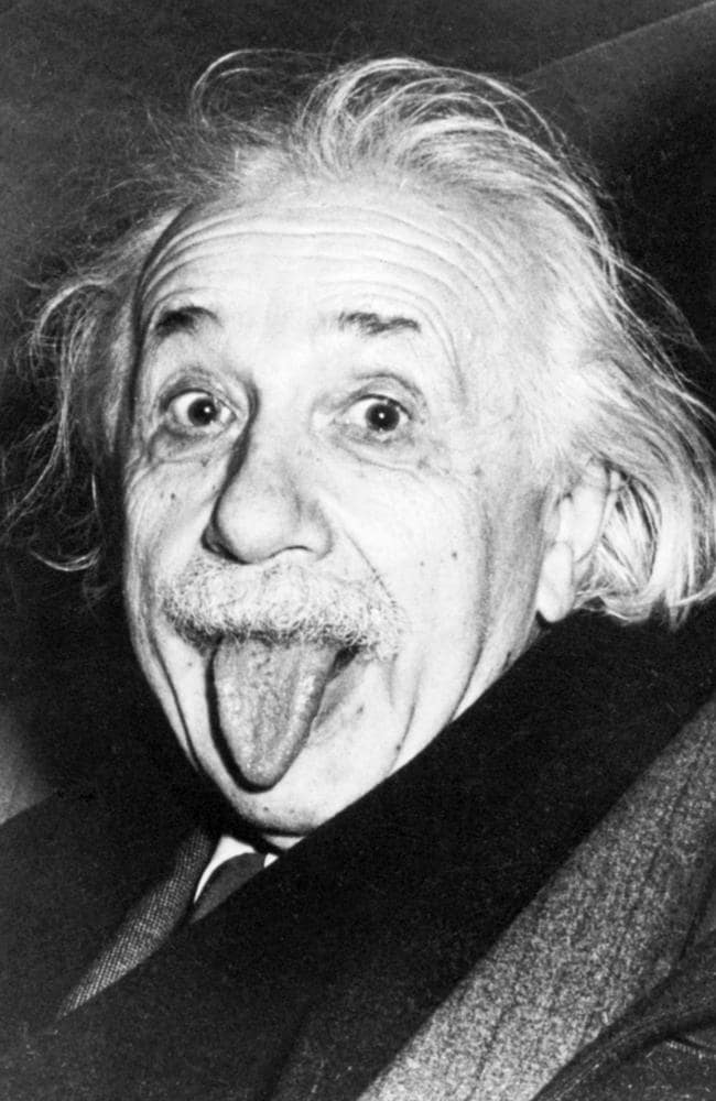 The famous theoretical physicist, photographed by Art Sasse when asked to smile for his birthday, Princeton, 1951.