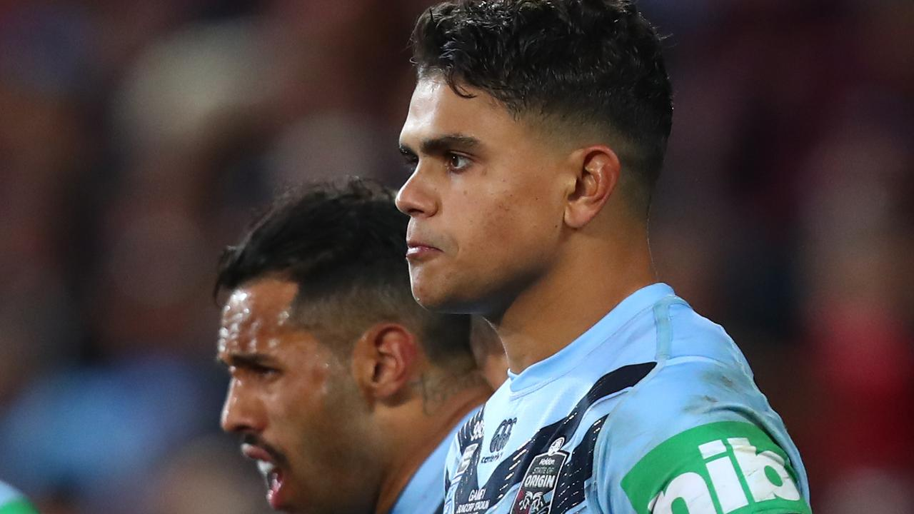 Latrell Mitchell has paid the price for a poor game in Origin I.