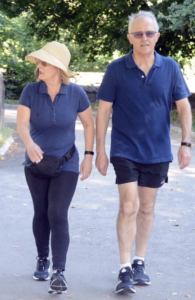 Mr Turnbull was also frustrated that he was pictured taking a walk in Central Park. Picture: MEGA