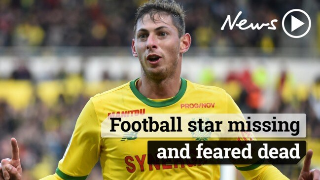 Football star missing and feared dead