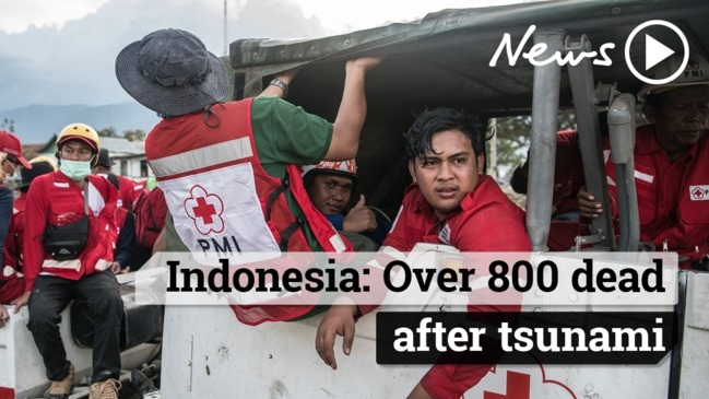 Indonesia: Over 800 dead after tsunami