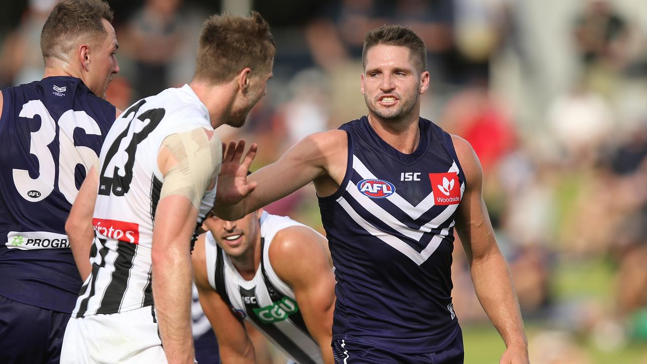 Jesse Hogan's JLT Community Series debut for the Dockers left a lot to be desire from a SuperCoach perspective