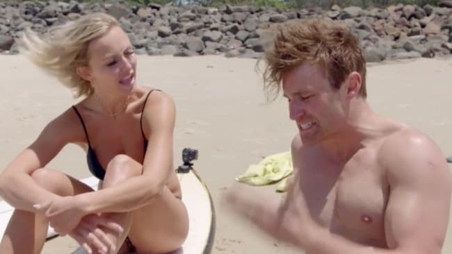 Susie ripped into Billy after an ill-fated surfing lesson. Photo: 'Married At First Sight'