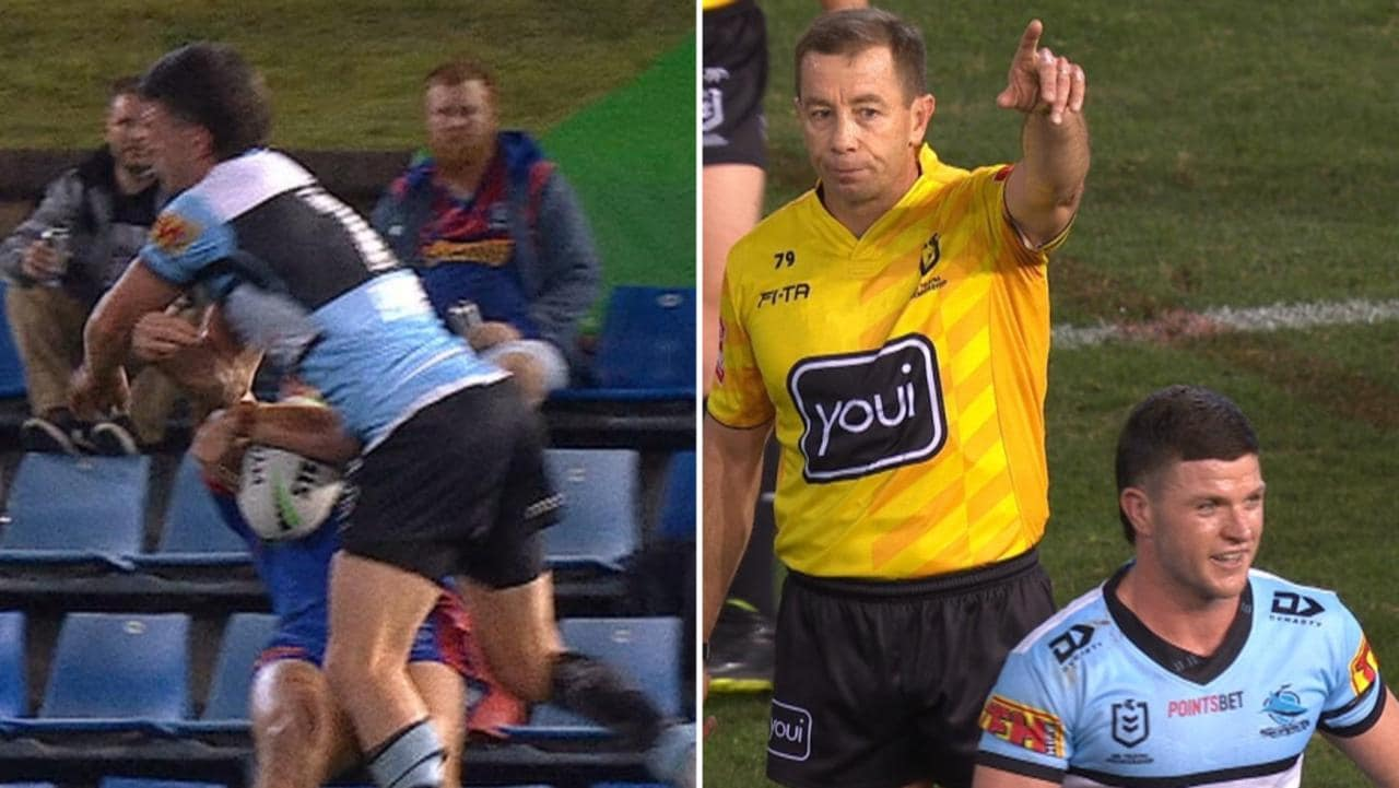 Chad Townsend got his marching orders for Kalyn Ponga hit.