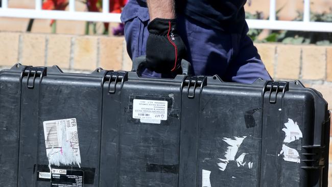 Police raid ... a number of items of interest in Sydney. Picture: John Grainger
