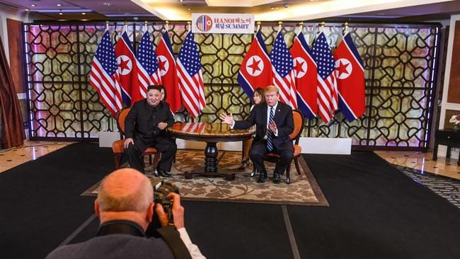 Mr Trump and Mr Kim are now moving to expanded bilateral talks at the Sofitel Metropole Hotel in Hanoi.