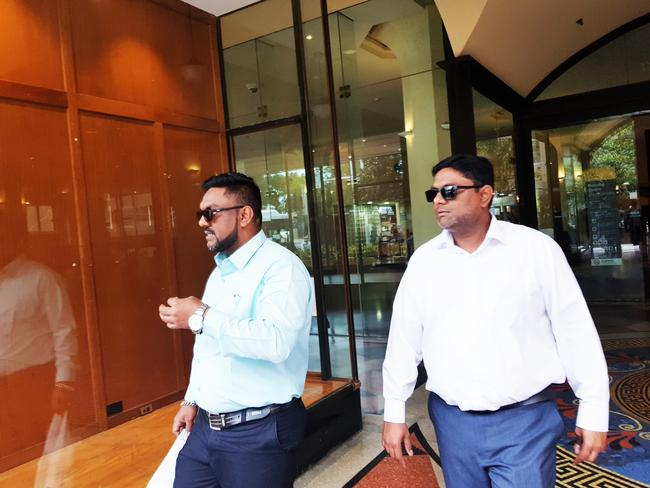 """Taxi driver Nazir Syed (right) with his brother outside court on January 31. Picture: Candace Sutton.  <a capiid=""""ff1ef4667ba0dcae93a6cc26ffe8eee6"""" class=""""capi-video"""">Keeping up with Salim Mehajer</a>"""
