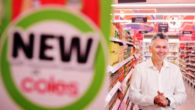 Outgoing Managing Director of Coles, John Durkan, made the announcement about the push into smaller stores at Wesfarmers' strategy day. Picture: Justin Kennedy