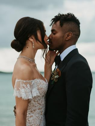 Their wedding day in April 2018. Picture: Sara Lobla