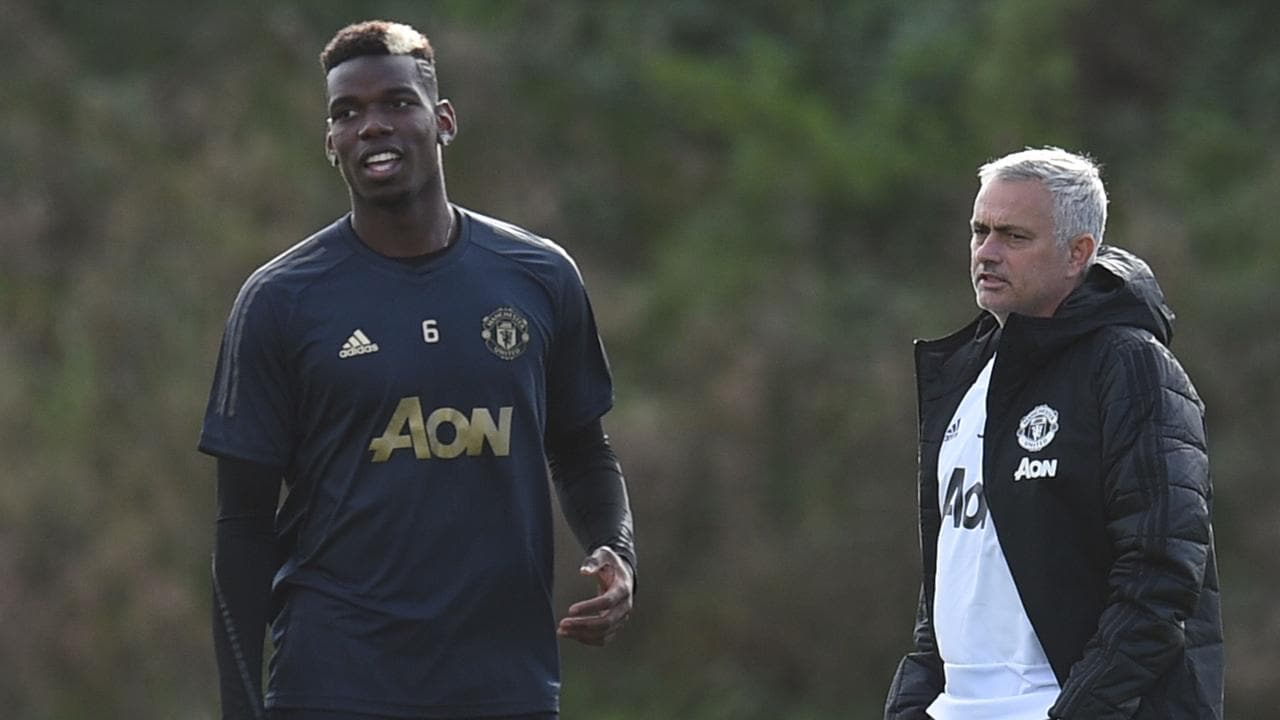 Jose Mourinho (R) has dropped Paul Pogba (L) and other big names