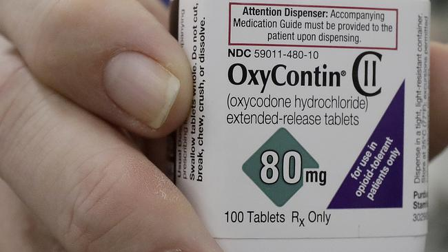 Purdue Pharma, the US manufacturer of the opioid OxyContin, filed for Chapter 11 bankruptcy protection amid an avalanche of lawsuits. Picture: AP