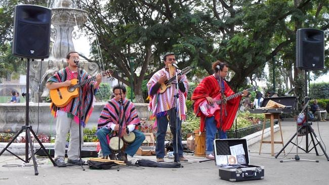 A local Guatemalan band performs in Antigua. Picture: Tatyana Leonov