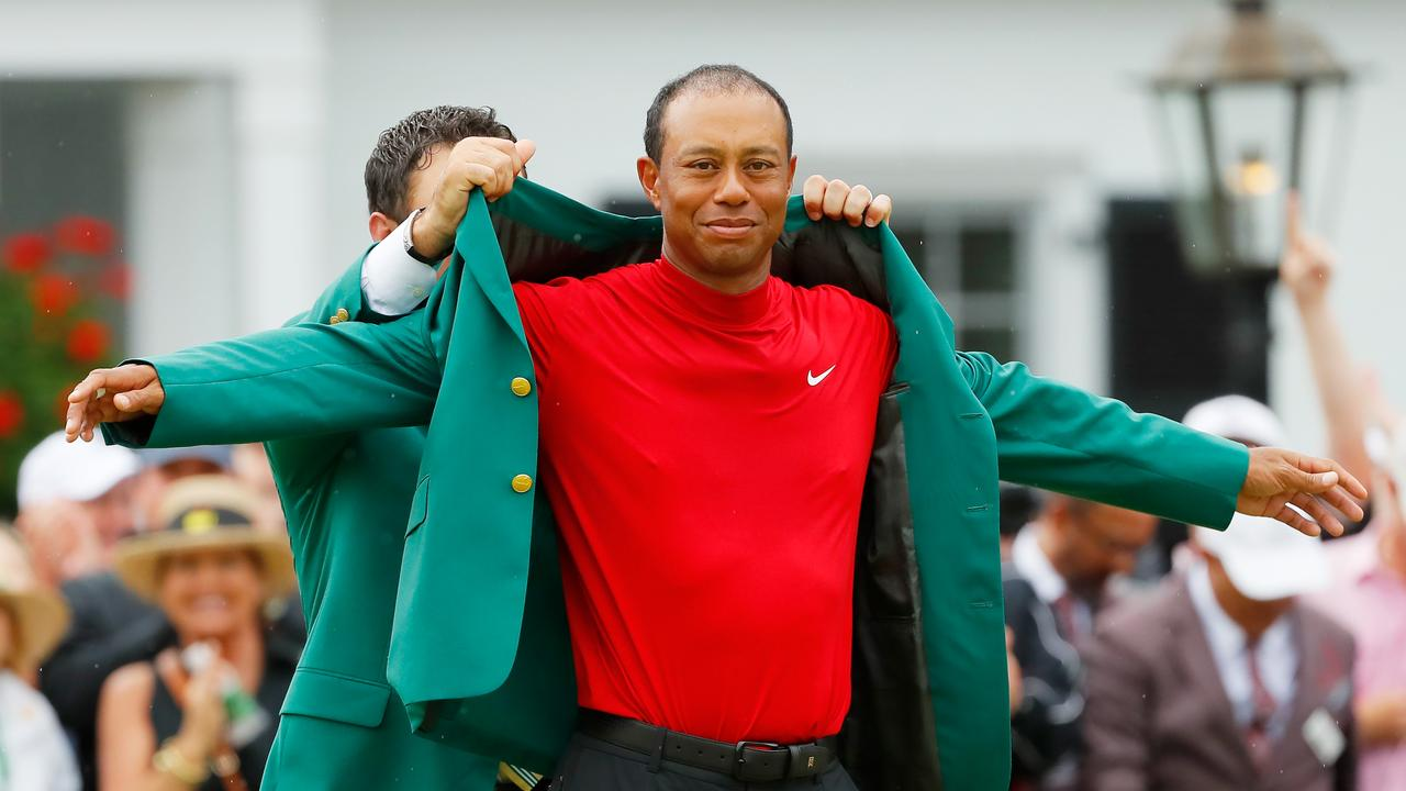 The green jacket that so cruelly eluded Norman was handed to Woods for a fifth time last year.