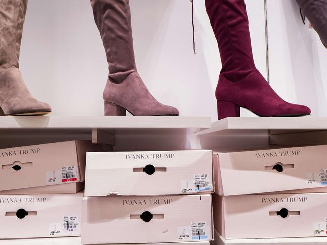 According to a market research firm Slice Intelligence, Ivanka Trump merchandise saw a 26 per cent dip in sales in January 2017 compared to January 2016. Picture: Drew Angerer/Getty Images/AFP