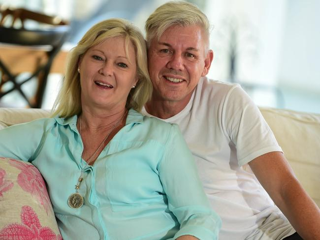 Mr Ginns' wife Judy thanked everyone for their support. Picture: Iain Curry/Sunshine Coast Daily