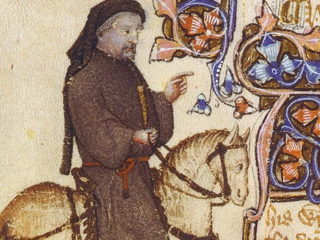 Geoffrey Chaucer wrote the first recorded association of Valentine's Day with romance. Picture: News Corp