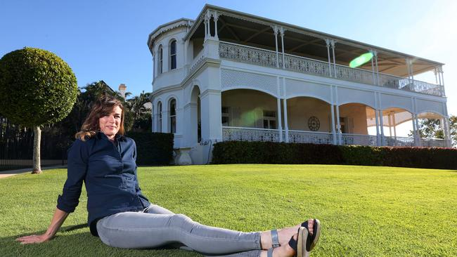 Stefanie Brown at the historic Cintra House, which she is selling. Picture: Peter Wallis.