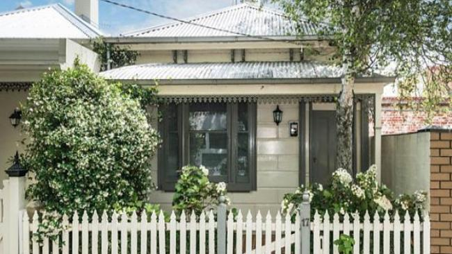 In Victoria a two-bedroom home at 17 Herbert St, Albert Park is listed for $950,000. Picture: realestate.com.au