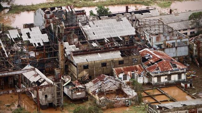 A destroyed factory in Buzi, central Mozambique, after the passage of the cyclone Idai. Picture: AFP