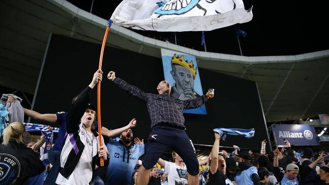 Sydney FC fans in The Cove