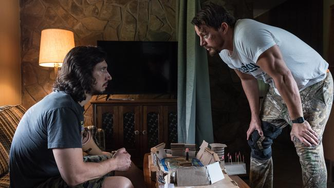 Adam Driver and Channing Tatum play brothers in Logan Lucky. And look nothing like each other whatsoever. But it doesn't matter.