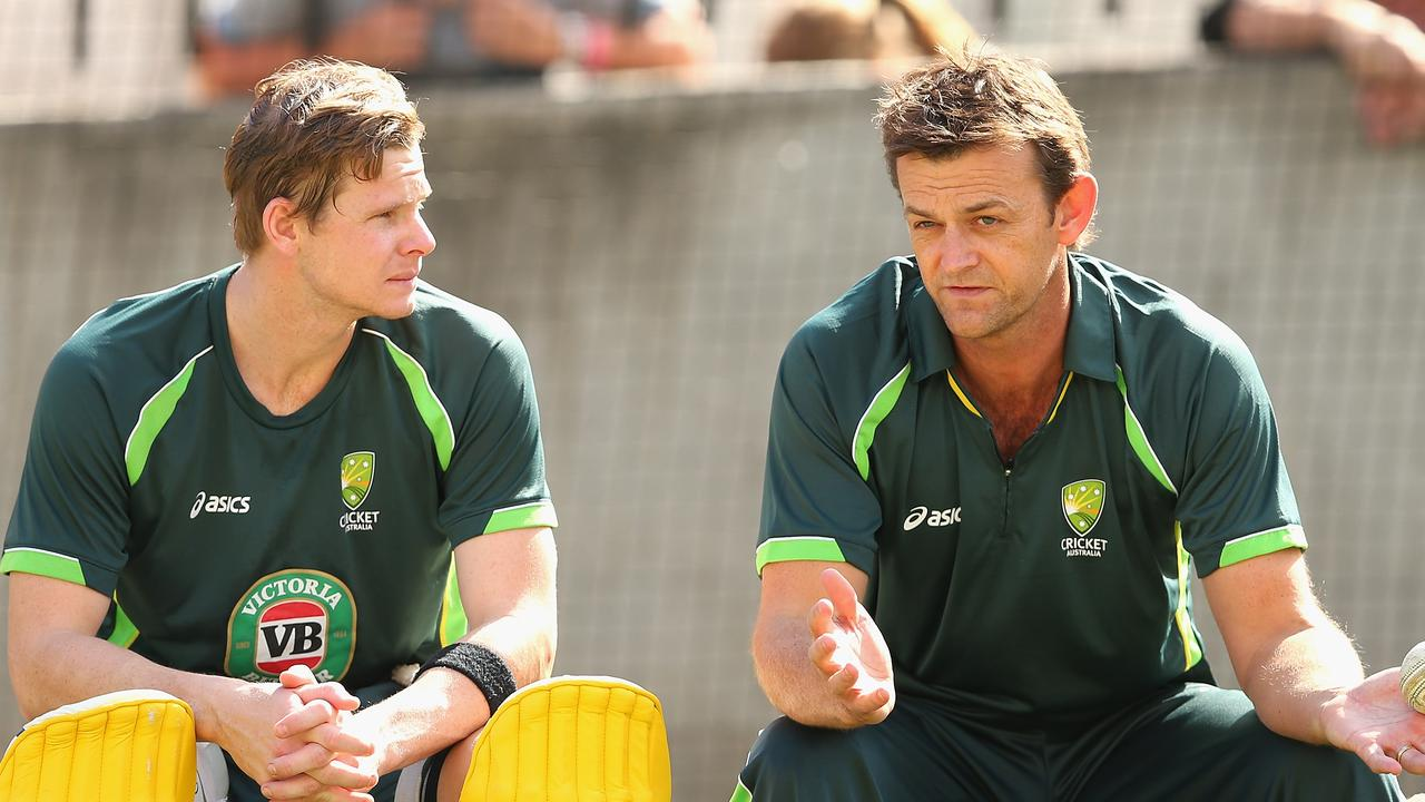 """Gilchrist (pictured with Smith in 2015) said Smith is young and will play long enough to complete an """"amazing story of redemption""""."""