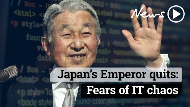 Japan's Emperor quits: Fears of IT chaos