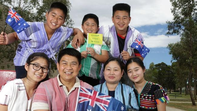 A Sydney family from Myanmar, who arrived as refugees, are now proud Australians.