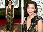 Maggie Gyllenhaal arrives at the 73nd annual Golden Globe Awards, January 10, 2016, at the Beverly Hilton Hotel in Beverly Hills, California. Picture: Supplied