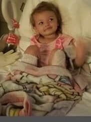 Little Kaylee was rushed to hospital. Picture: GoFundMe/ Justice For Kaylee