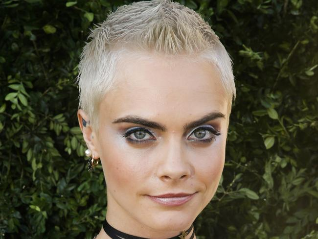 British model and actress Cara Delevingne made bushy eyebrows fashionable. Picture: AFP