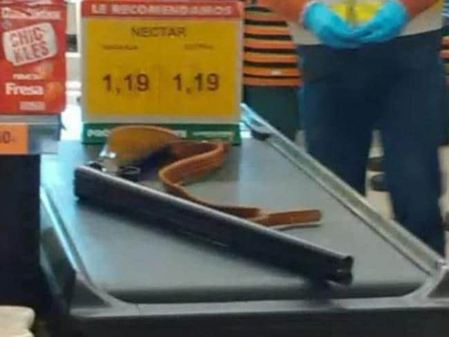The shotgun allegedly used in the attack. Picture: Twitter