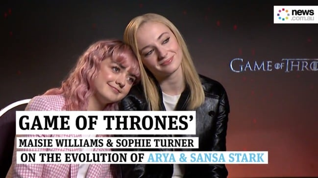 The evolution of Arya & Sansa Stark