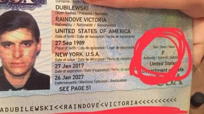 Rain Dove shared a photo of their passport on Instagram.