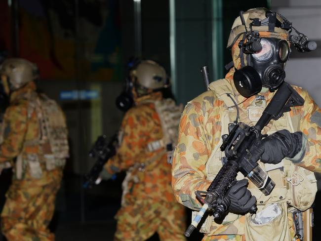Be prepared ... A high-profile anti-terrorism Exercise at Martin Place, Sydney, involved 50 personnel from the ADF and NSW Police. Picture: Bill Hearne