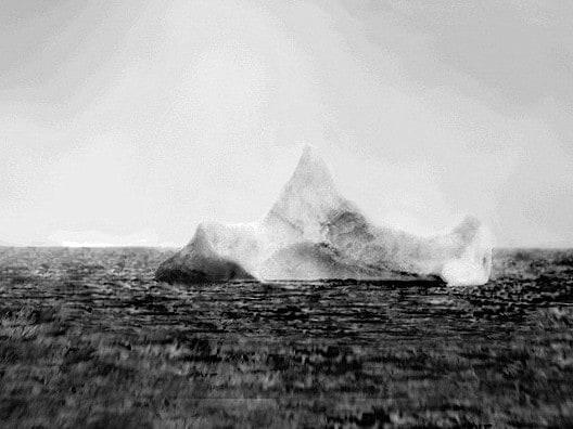 The iceberg that sank the Titanic. Picture: BBC