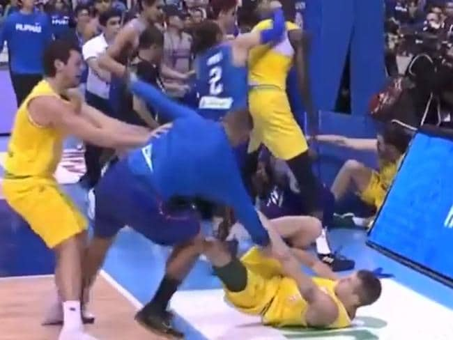 Australia V Philippines brawl blow-by-blow: