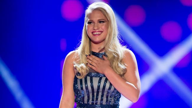 Anja Nissen performing on The Voice. Fans will not get to hear her single My Girls.