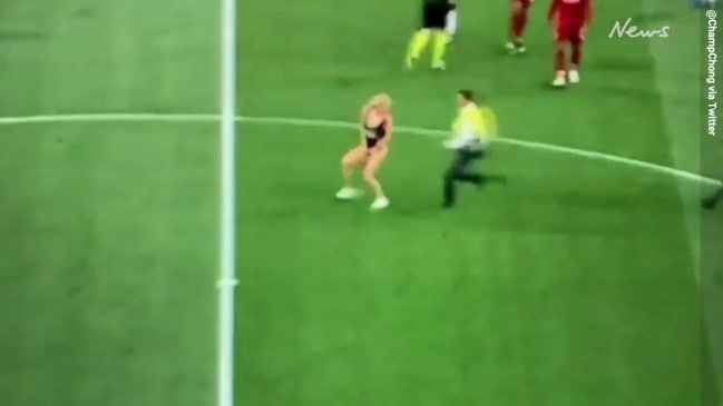 Champions League Final streaker Kinsey Wolanski