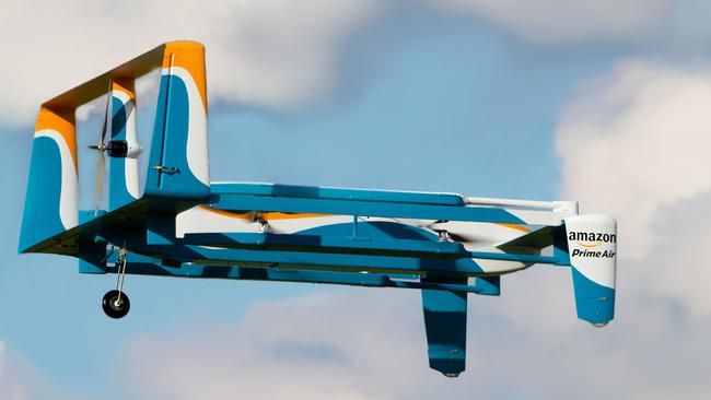 Amazon has already designed mini-drones that would be used to fly small packages to customers.