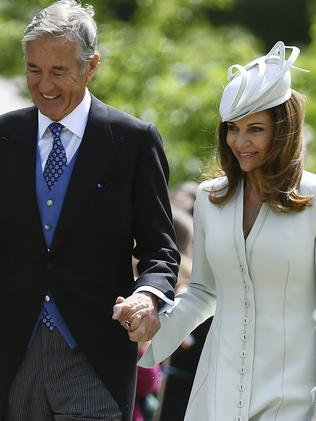 David and Jane Matthews, parents of the groom, attend the wedding ceremony of Pippa Middleton to James Matthews. Picture: AP