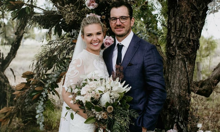Edwina Bartholomew ties the knot in a beautiful country ceremony