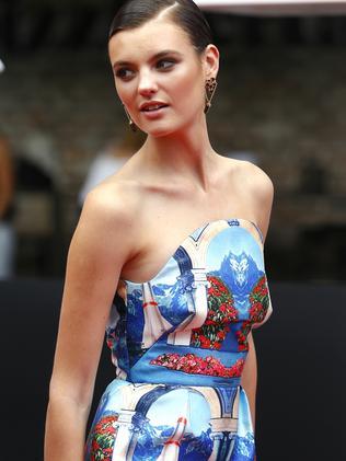 Model Montana Cox looks amazing in blue.