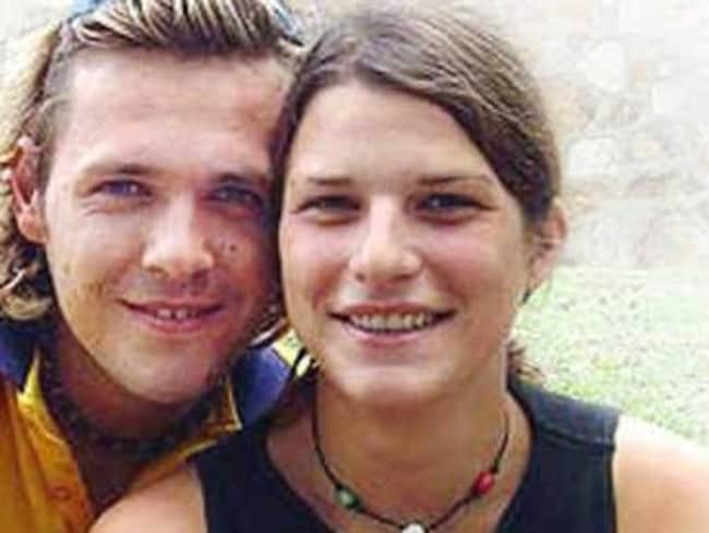 Then known as Tobias Suckfuell, Toby Moran is pictured with his German girlfriend whose body was found in Lismore in February 2005. Picture: Northern Star