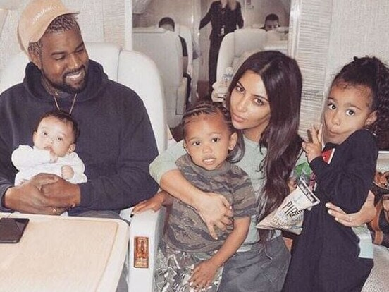 Kim Kardashian and Kanye West with their children Chicago, Saint and North. Picture: Instagram