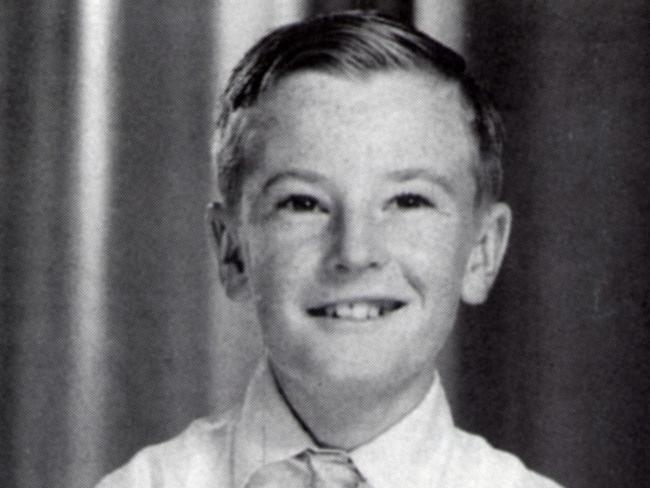 Memory lane ... Peter Allen as a child, aged 8.