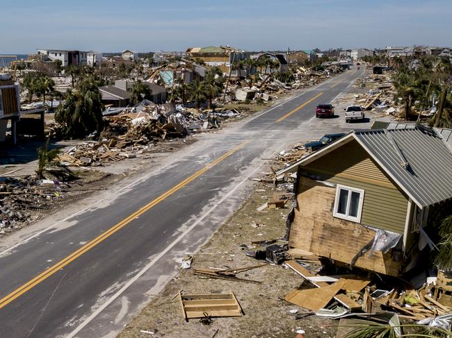 This photo shows debris and destruction in Mexico Beach, Fla., Friday, Oct. 12, 2018, after Hurricane Michael went through the area. Picture: AP