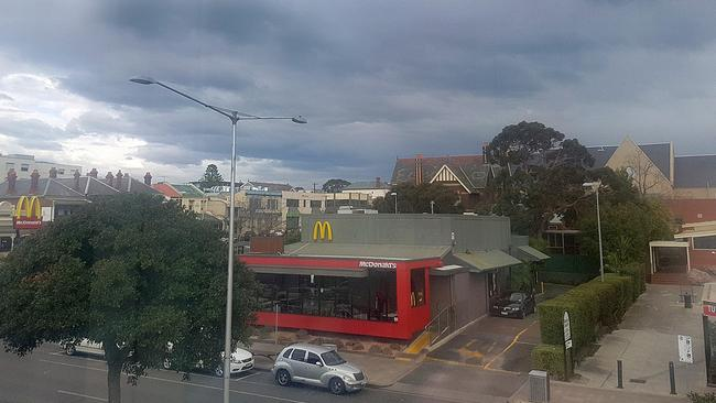 Clouds roll into Geelong. Picture: Alison Wynd
